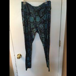 LuLaRoe TC Black, Blue, Green pants, fit sizes 18